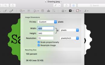 Promena veličine slike - preview alat